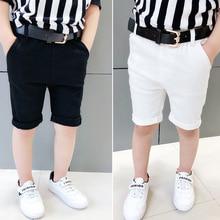 Pure color  shorts leisure pants summer new tide factory direct sale Cotton kids Straight boy ALI 351