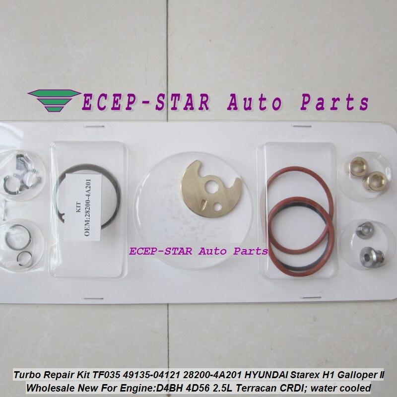 Turbo Kit De Réparation reconstruire TF035 49135-04121 28200-4A201 Turbocompresseur Pour HYUNDAI H1 Starex H200 Galloper Terracan D4BH 4D56 2.5L