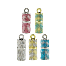 New Bling Diamond Cylindrical USB Flash Drive necklace jewelry Pen Drive 32GB 16GB 8GB 4GB Memory Stick USB 2.0 Flash disk 64GB