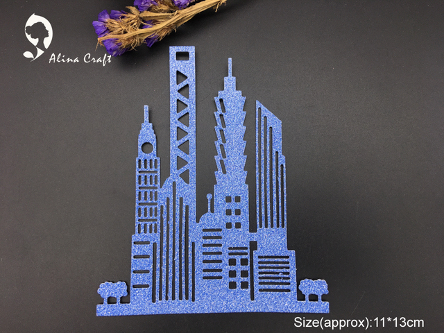 Alinacraft Metal Cutting Dies Die Cut City Building Group Scrapbook