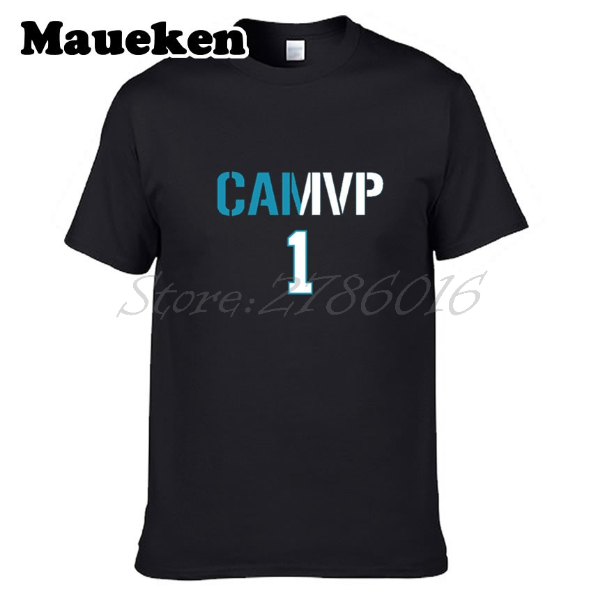 Men Carolina #1 Cam Newton MVP T-shirt Tees Short Sleeve T SHIRT Mens Fashion W1203028 ...