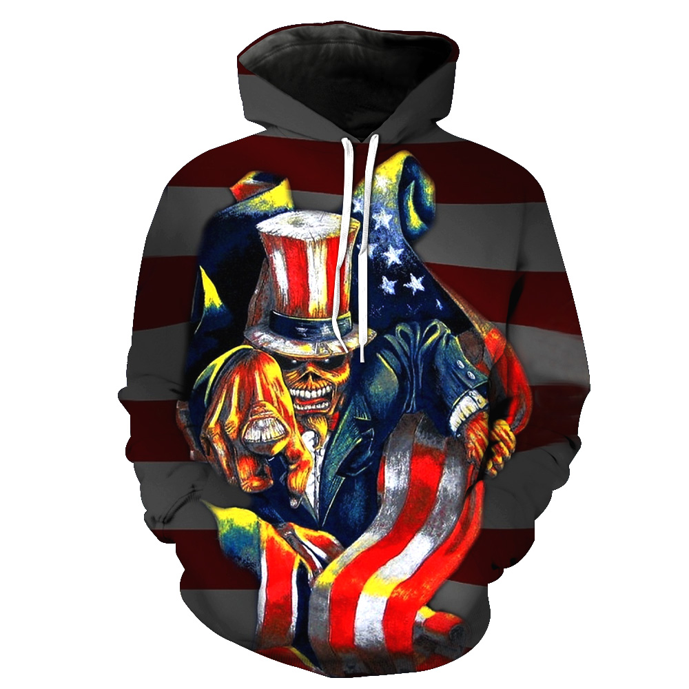 MWBAY 3D Flag Sweatshirts Men/Women Hoodies with Hat Print Couple Spring Autumn Winter Loose Thin Hooded Hoody Tops