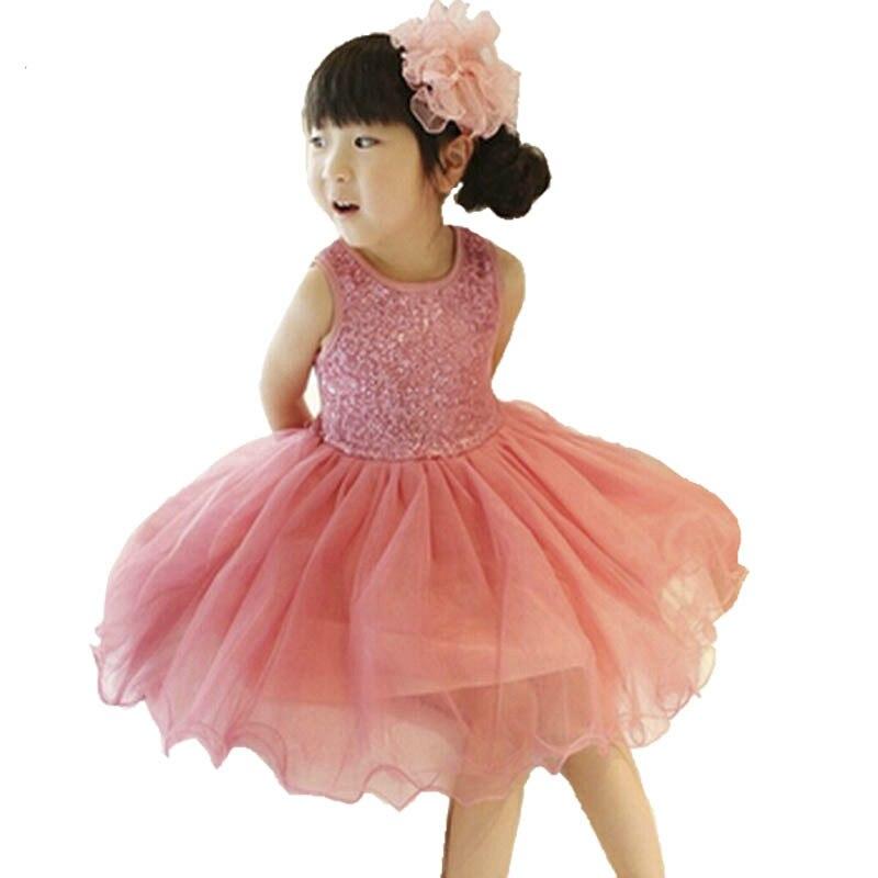 baby girl dress 2018 summer sequin kids toddler girl