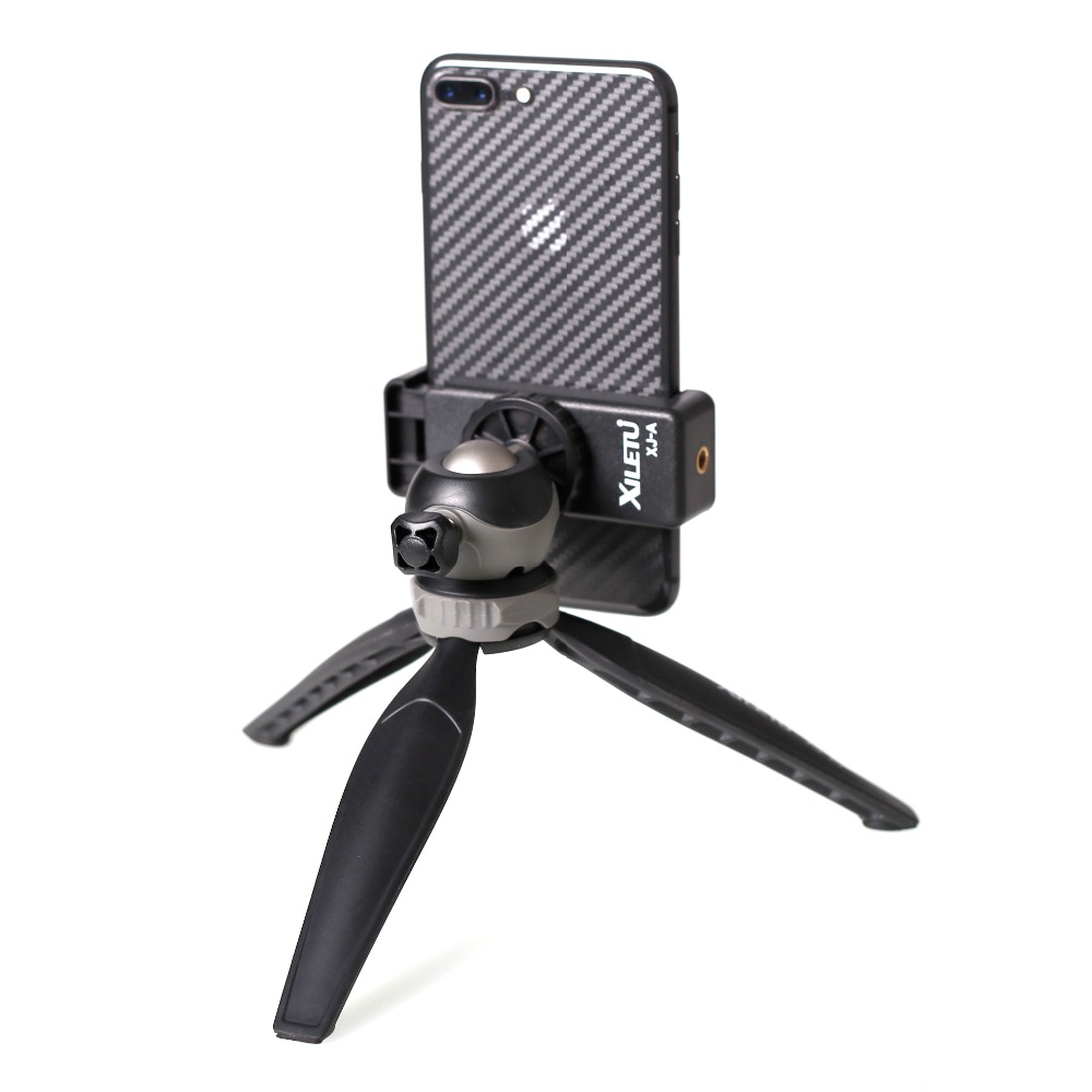 Image 4 - XILETU XS 20 Mini Desktop little Phone Stand Tabletop Tripod for Vlog Mirrorless Camera Smart phone with Detachable Ball head-in Tripods from Consumer Electronics