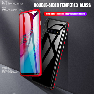 Image 2 - For Samsung Galaxy S10 5G S10 Plus S10e Case 360 Degree Full Magnetic Cover Front Back Glass Case For Galaxy S10 5G Magnet Case