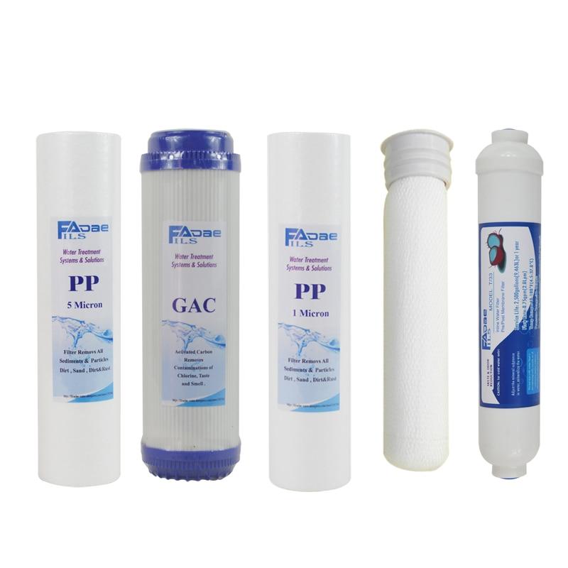 5 этап ultra фильтр Системы замена фильтров kit 10 в. Pp 5 микрон/gac/pp 1 микрон/ultra мембраны/inline сообщение угольный фильтр