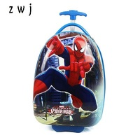16 18 inches children trolley travel suitcase hardside luggage box universal wheel travel bags surper hero Spiderman