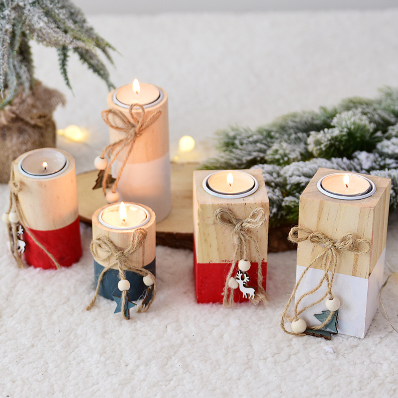 Modern Romantic Tealight Wooden Candle Holder