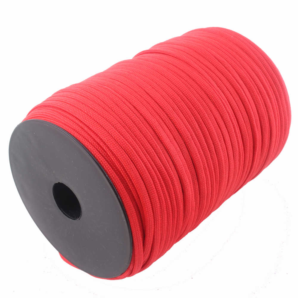 100m szpule Paracord 550 lina 7 Strand Paracord Outdoor Camping Survival wyposażenia awaryjnego