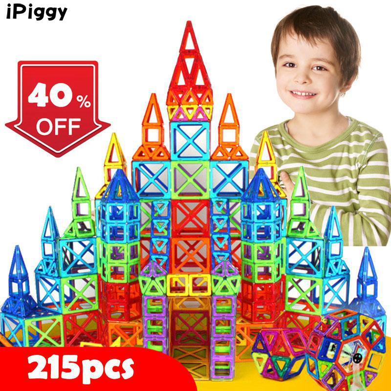 215 Stks Mini Magnetische Designer Bouw Magnetische Blokken Educatief Speelgoed Set Modelbouw Speelgoed Voor Kinderen Kerstcadeau