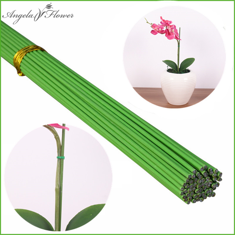 Phalaenopsis Plant Dedicated Styling Fixture Gardening Potted Orchid Plants Flowers Supporting Wire Flower Rod Stem  Pcs/lot