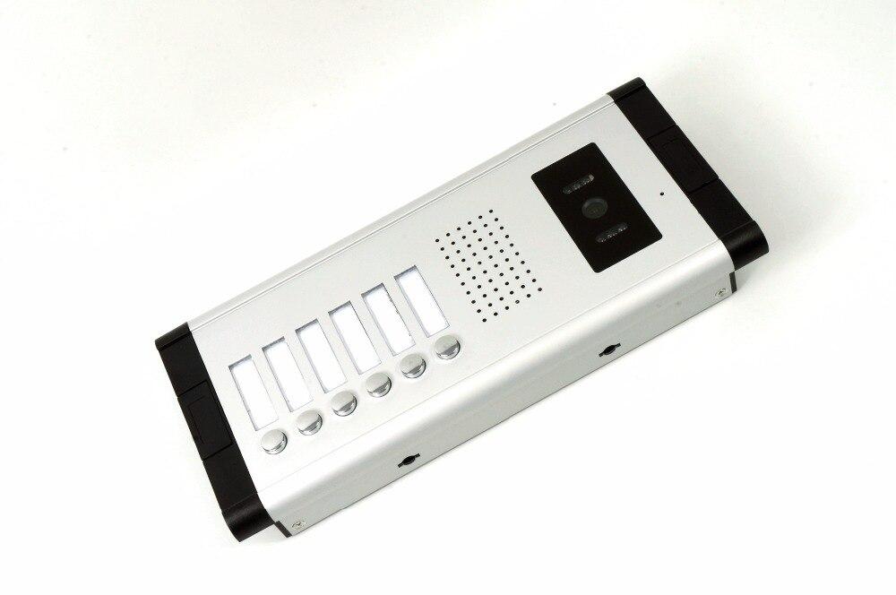 Yobang безопасности 7 дюймов Проводной Видео Домофонные визуальные домофон Дверные звонки с 6 * Мониторы + 1 * Камера для 6 единиц квартиры