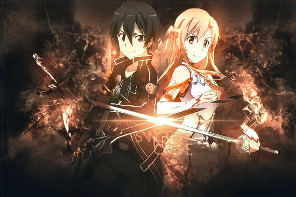 Custom Canvas Art Sword Art Poster Sword Art Online Game Wall Stickers SAO Mural Anime Wallpaper Bedroom Christmas Decor #370#