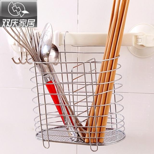 Hot Sale Stainless Steel Chopsticks Spoon Tube Cage Holder Kitchen  Tableware Storage Rack Cutlery Holder