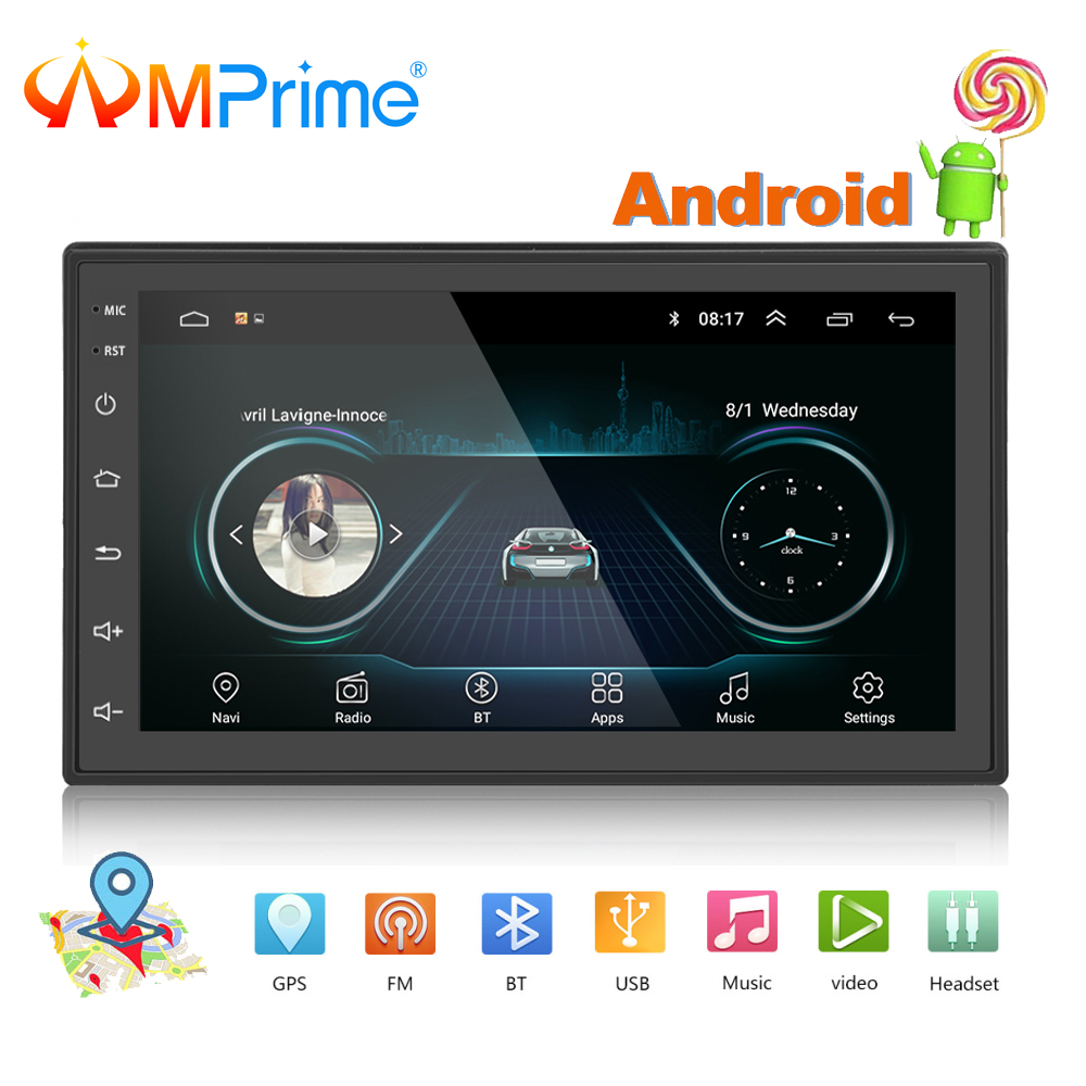 AMPrime Universal 2 Din 7 Android Car Radio Multimedia Bluetooth GPS Navigation Car Stereo Mirror Link FM Wifi DAB PlayerAMPrime Universal 2 Din 7 Android Car Radio Multimedia Bluetooth GPS Navigation Car Stereo Mirror Link FM Wifi DAB Player