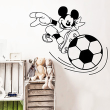 цена на European-Style football Vinyl Wall Sticker Decor For Living Room Kids Room Decoration Removable Mural Decal