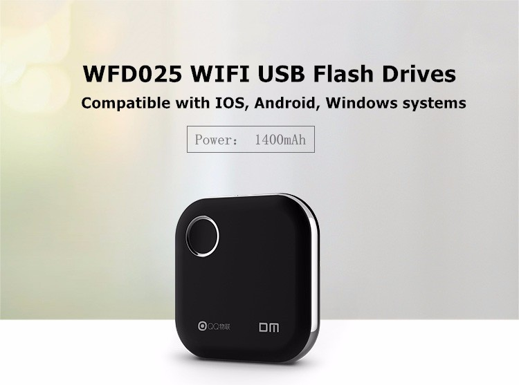Wireless 64GB Portable USB Flash Hard Drive WiFi for Android Apple DM WFD025