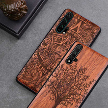 Honor 20 etui Boogic oryginalne prawdziwe drewno funda Huawei Honor 20 Pro palisander TPU odporna na wstrząsy tylna obudowa obudowa na telefon Honor20 etui