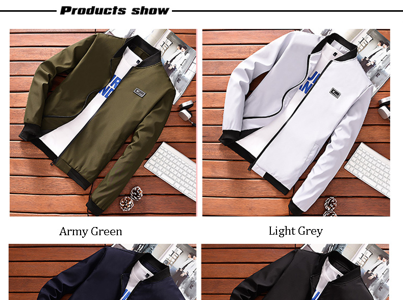 HTB1FRa7ouuSBuNjSsziq6zq8pXaT BOSIBIO Summer Autumn Mens Jacket Stand Collar Windbreaker Male Blue Baseball Jackets Casual Thin High Quality Size M-4XL LH-2