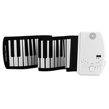 Power Rechargerable 61 Keys USB Soft Flexible Electronic SD card or USB Music Silicone Roll Up Musical Instrument Keyboard Piano