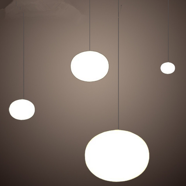 Modern minimalist pendant lights milk white glass ball pendant lamps modern minimalist pendant lights milk white glass ball pendant lamps restaurantbar lamp diameter 18 aloadofball Gallery