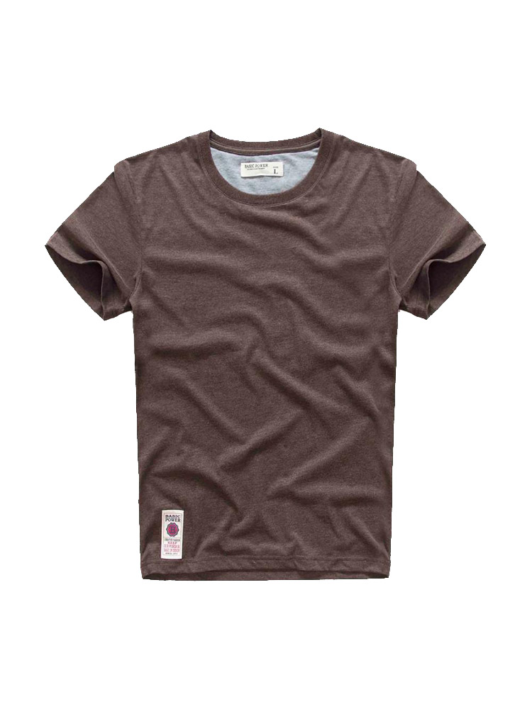 VOMINT T-Shirt Short-Sleeve Elastic Hot-Sale Breathable Cotton 4-Color Solid O-Neck Soft