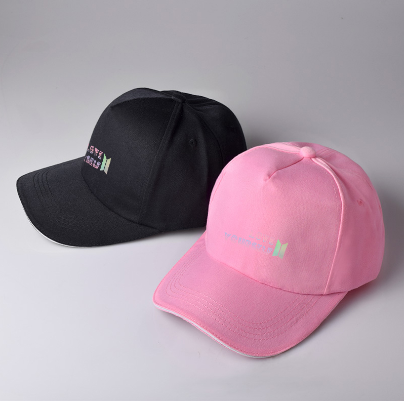 Kpop BTS Baseball Cap Adjustable TWICE Wanna One Snapback Seventeen ... a896186e73dd
