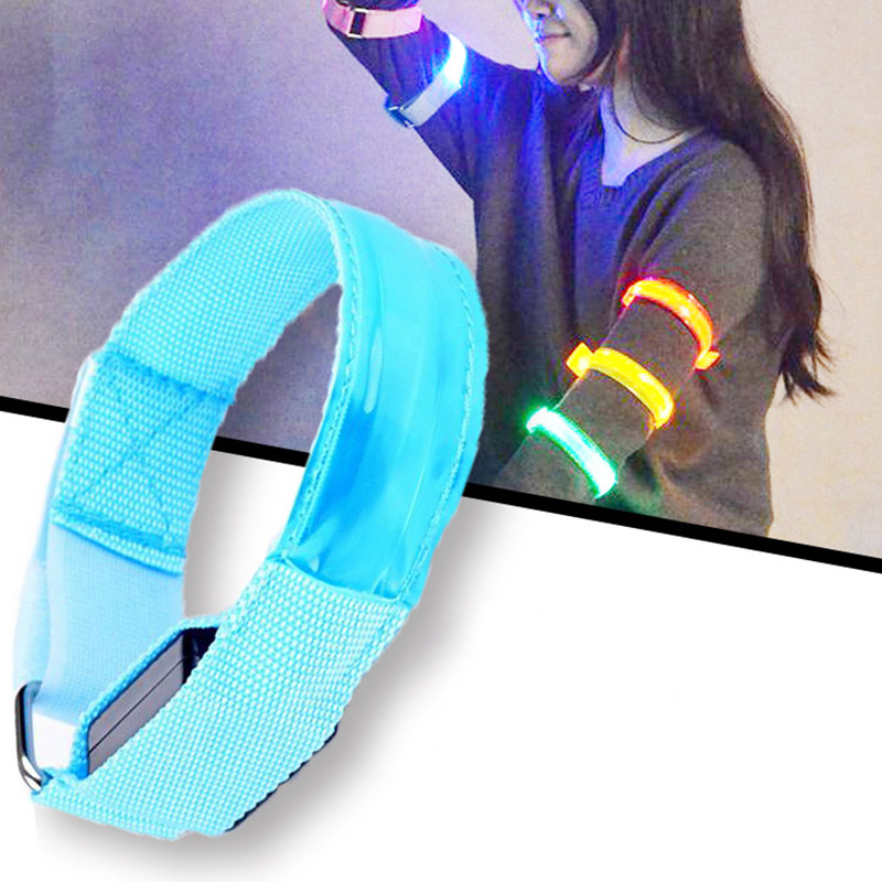 LED Arm Leg Warning Lighting Wristband For Riding Bike Bicycle Party Running Outdoor Sports Safe LED wristband Art Strip Random