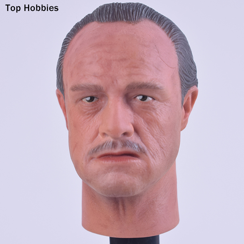 Custom 1/6 Scale Godfather The Colean family Mafia leader Head Sculpt Carving A-21 Fit 12 Inch Hot Toys TTL Body Action Figure 1 6 head sculpt carving model kumik 16 18 hot sideshow toys ttl enterbay custom male man fit 12 ph action figure doll toy body
