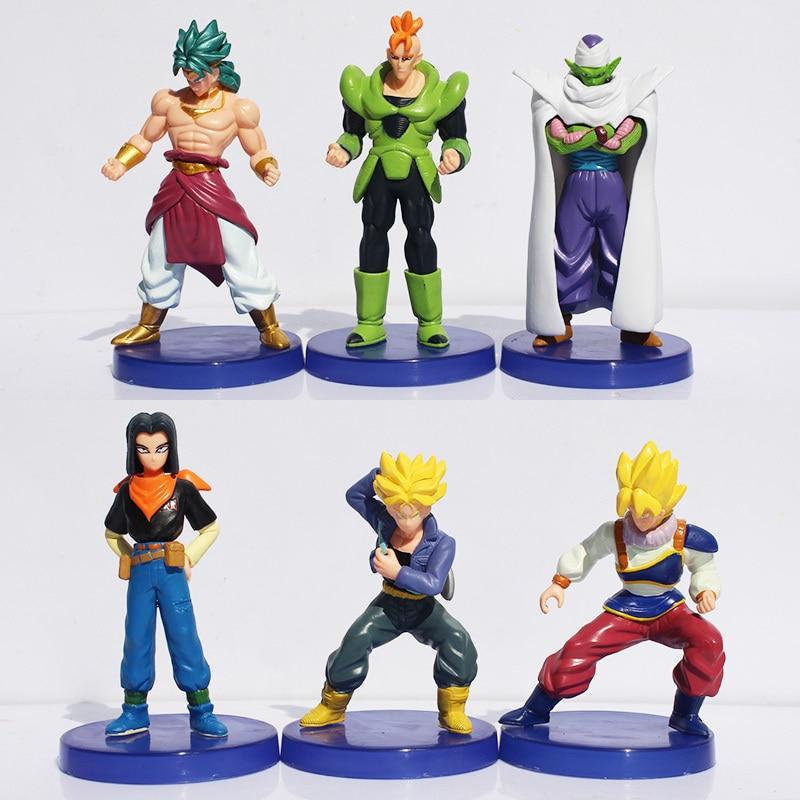 12cm 6pcs/set Dragon ball z figures 11th Goku Super Saiyan figure chidren toy Christmas gift