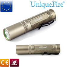 UniqueFire UF-AA-S1 Flashlight Bronze Cree Q5 Led Lanterna 3 Modes Aluminum Alloy Led Torch Lamp Rechargeable Battery