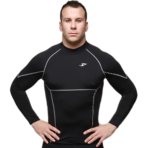 2015 Brand Base Layers Mens T shirts Curele de compresie cu maneci lungi Fitness Skins Gear Thermal Tops M-XXL