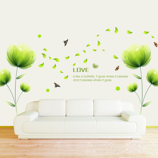 acheter lotus affiche fresque murale papillon autocollants pour mur pour amour. Black Bedroom Furniture Sets. Home Design Ideas