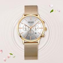 662c5942eb8 MEGIR Marca De Luxo Mulher Relógio de Quartzo Mulheres Moda Casual Senhoras  Relógio de Pulso À