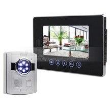 """DIYSECUR 7 """"de Color de Vídeo Teléfono de Puerta de Intercomunicación 1V1 Cámara CCD 700TVL Impermeable LED Del Sensor"""