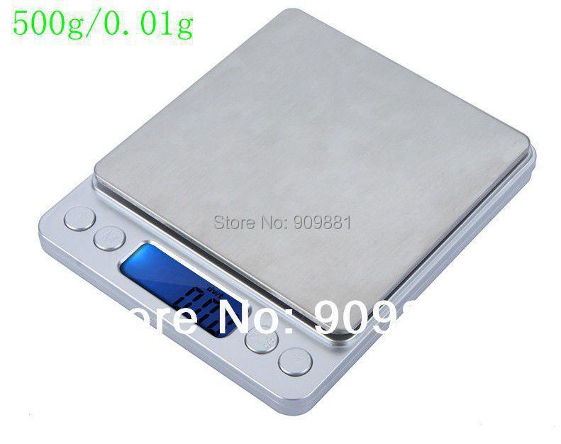 500g 0,01 g Platformowa waga kuchenna elektroniczna 500G Biżuteria cyfrowa Ważenie Waga wagi 0,01 Waga laboratoryjna z tacami