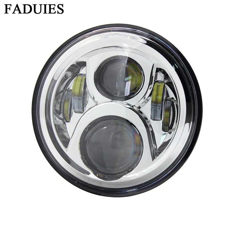 FADUIES Chrome 7 collu motociklu H4 Led lukturu lukturis ar augstu un zemu apgaismojumu Honda Moto CB400 CB500 CB1300 Hornet 250 600 900