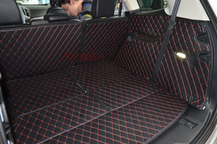 For Ford Edge   Seats Black Red Pu Rear Trunk Cargo Mats Carpets Pad Cover Paded Mat In Floor Mats From Automobiles Motorcycles On Aliexpress Com