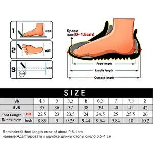 Image 5 - MWY Calcetines elásticos informales para mujer, zapatos deportivos gruesos, calzado de exterior, mocasines planos para mujer