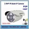 Frete Grátis 1080 P 2 Megapixel 2MP HD IPC IR 20 m Ao Ar Livre à prova d' água IR Bala Câmera IP 3x Matriz de LED w/Bracket Suporte ONVIF2.0