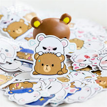 Hot Koop Knuffel Beer Briefpapier Stickers Dagboek Handgemaakte Zelfklevend Papier Japan Sticker Scrapbooking Briefpapier(China)