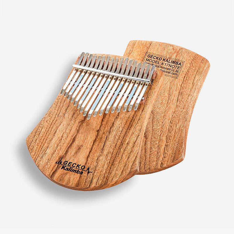 GECKO Kalimba 17 Keys Thumb Piano builts in EVA high performance protective box tuning hammer and