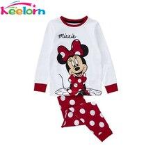 Keelorn точка устанавливает рукав девочка прекрасный полный мягкий ребенка пижамы хлопок