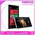 Разблокирована оригинальный Nokia Lumia 928 окна телефон 4.5 '' двухъядерный 1.5 ГГц 32 ГБ 8.7MP NFC 3 г разблокирована сотовый телефон