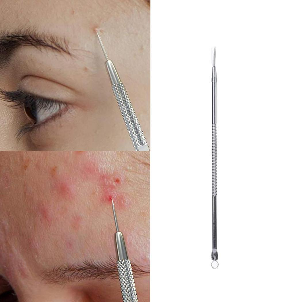 Stainless Steel Blackhead Remover Pimple Blemish Home, Salon, Etc 12.8cm Acne Face, Etc Extractor Fashion
