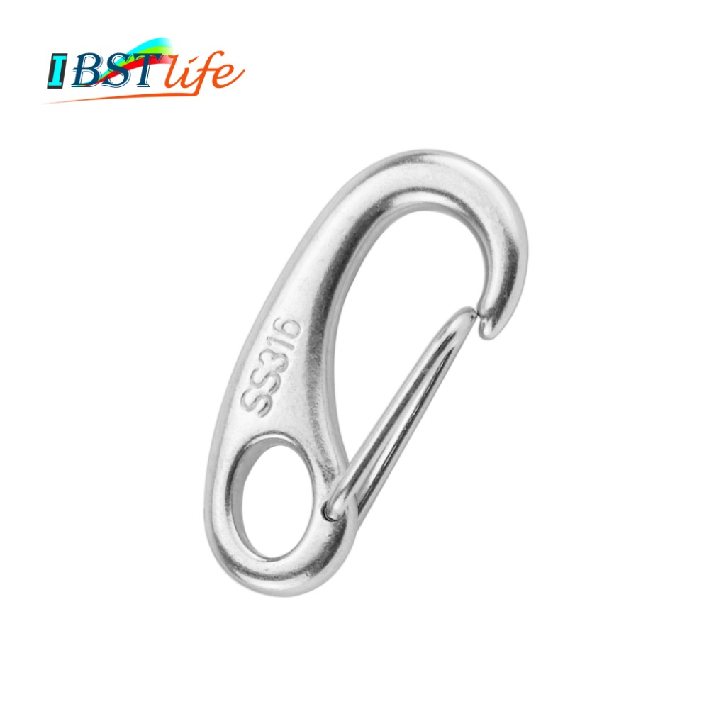 """5 Pack 5//32"""" MARINE LONG D SHACKLE 316 STAINLESS STEEL 900 lb test"""