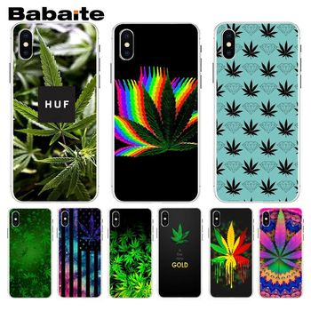 Babaite Weed Leaf grass huf First-rate Phone Accessories Case For iphone 8 8plus and 7 7plus 6s 6s Plus 6 6plus 5s Cellphones image