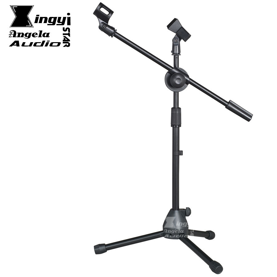 Professional Tripod Fold Holder Dynamic Wired Studio Microphone Stand Floor Condenser Mic Clip For Wireless Karaoke System Stage wired microphones condenser stereo sound studio microphone karaoke microfone with stand holder clip for pc laptop notebook mic
