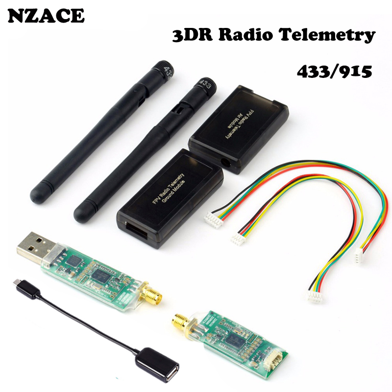 цена на NZACE 1pcs 3DR Radio Telemetry Kit 433MHZ 915MHZ Module Open source for APM 2.5 2.6 2.8 Discount