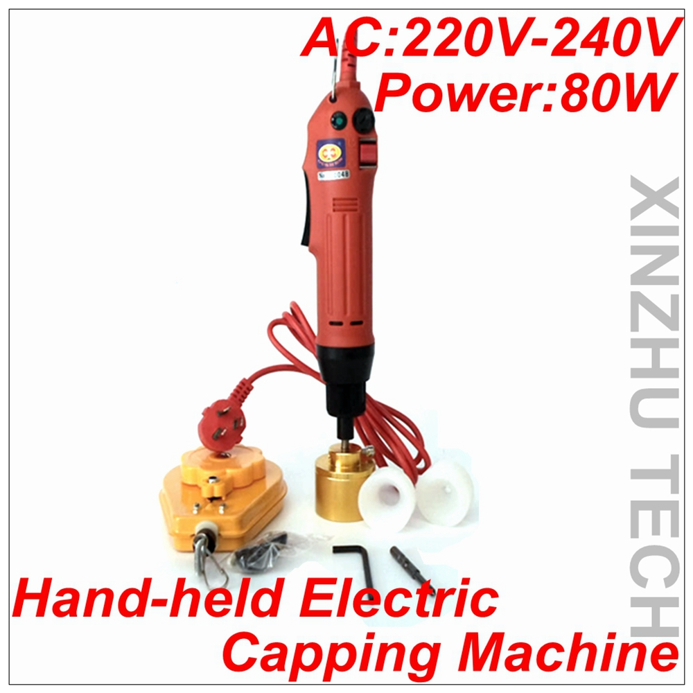 New Arrival Hand-held Electric Capping Machine Precision Screwdriver Capper AV220-240V With 2 Rubber Insert For 10-30mm Cap free shipping rg i hand held electric capping machine for customize cap